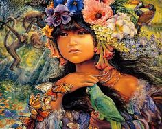 Mystical Fantasy Paintings of Josephine Wall Wallpaper Josephine Wall, Fantasy Paintings, Fantasy Artwork, Wall Paintings, Portrait Paintings, Portraits, Raw For Beauty, Art Magique, Surrealism Painting