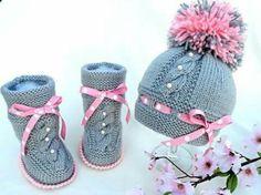 botas gorra gris rosa