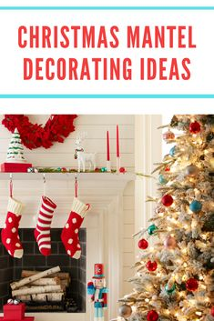 Your fireplace mantel is a natural focal point for holiday decor, but you don't have to arrange it the same way every year. Delight family and friends this season with any of these fun Christmas mantel decorating ideas. #lowes #homedecor #stockings #christmastree #fireplace