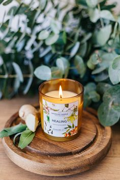 Heal yourself: This restorative blend was combined for its grounding and de-stressing appeal as well Candle Logo, Candle Art, Candle Maker, Candle Shop, Soy Wax Candles, Scented Candles, Advent Candles, Candle Packaging, Candlemaking