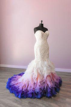 Colored Wedding Dresses, White Wedding Dresses, Wedding Colors, Prom Dresses, Ombre Wedding Dress, Allure Bridals, Business Dresses, The Dress, Pretty Dresses