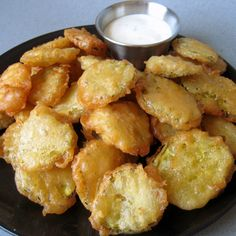Fried Pickles – a southern classic. Love making these and home made ranch dressing!