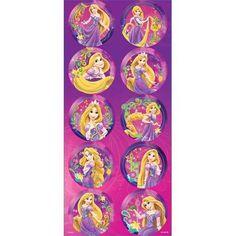 Adesivo Decorativo Redondo Rapunzel Disney - 03 Cartelas