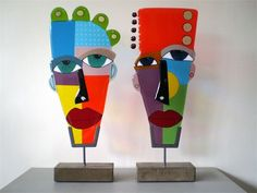Masks (1348 and 1349): 18 x 45 cm ????