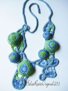 FREEFORM: Romanian Point Lace 3D Necklace.via Etsy