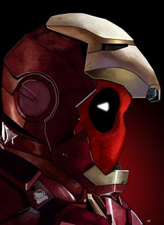 #Deadpool #Fan #Art. (Epic-Iron-Pool)  By: Heroforpain. [Thanks for Pinning everyone!]