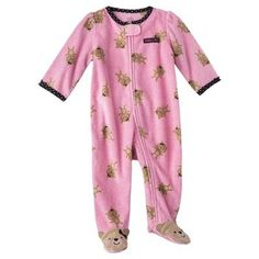 Just One You? made by Carter's Newborn Girls' Zip Front Microfleece Sleep N' Play