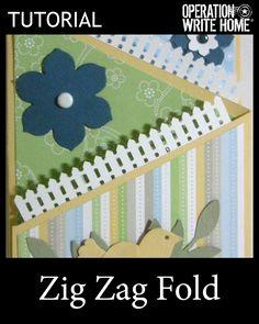 Zig zag fold card #tutorial