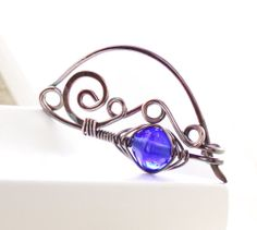 Handmade shawl pin or scarf pin in swirly ornate by IngoDesign, $28.00