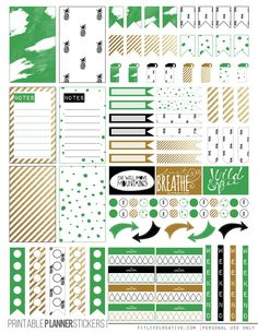 Free KateSpade Inspired (Planner Stickers) | fitlifecreative.com