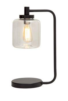 Iron Glass Lantern Table Lamp