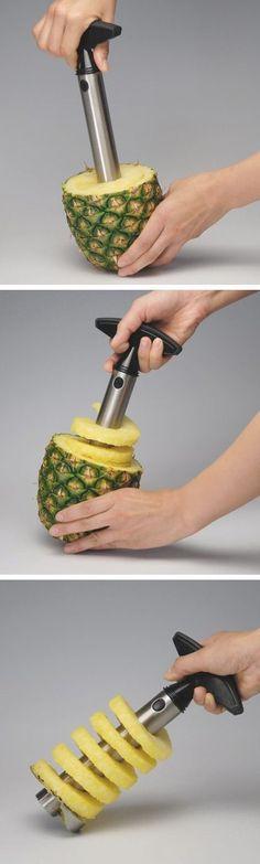Practical Stainless Steel Fruit Pineapple Slicer Peeler Creative Kitchen Tool