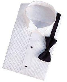 "Women's Tuxedo Shirt - Poly/Cotton Wing Construction (Size 4 = 32 Inch Chest 12 1/2"" Neck) Classix. $32.95"