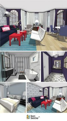 """Creating good design presentations for clients is one of the most important things that interior designers and decorators need to do- Learn how YOU can create 3D Interior Design Presentations that will """"Wow"""" YOUR Clients! http://www.roomsketcher.com/blog/ #interiordesign #interiordecorating #onlineinteriordesign"""
