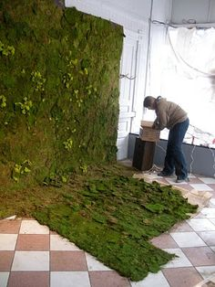 Serenity in the Garden: REINDEER MOSS - Fun and Artful  installation art with reindeer moss