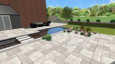 Backyard Garden Design, Wooden House, Water Features, Amazing Gardens, Iris, Landscapes, The Incredibles, House Design, Patio