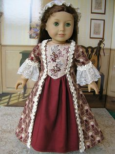 Colonial dress with beautiful ruching