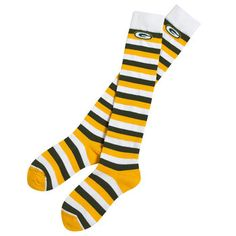 Green Bay Packers Women's Rugby Knee High Sock at the Packers Pro Shop http://www.packersproshop.com/sku/1401113135/