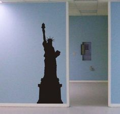 Statue of Liberty Wall Decal mural decor new york Famous Landmarks Removable Wall Decor Decal Sticker Fashion Free Shipping-in Wall Stickers from Home & Garden on Aliexpress.com | Alibaba Group