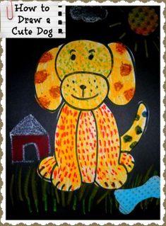 oil drawing simple pastels draw easy dog drawings pastel seniors hubpages hub