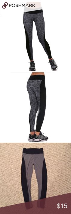 💪🏻 Power flex athletic pants Move your way into 2017 with these black and gray athletic pants. Great for whether your doing a downward dog or lifting at the gym. The two tones colors will emphasize your great  assets! 😜 Pants Leggings