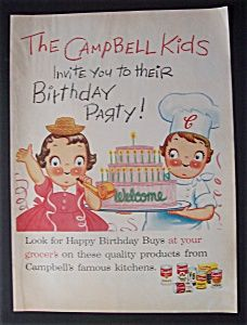 Vintage Ad: 1957 Campbell's Soup w/Campbell Kids