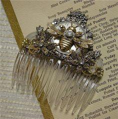 Bees:  #Queen #Bee fancy jewel comb.