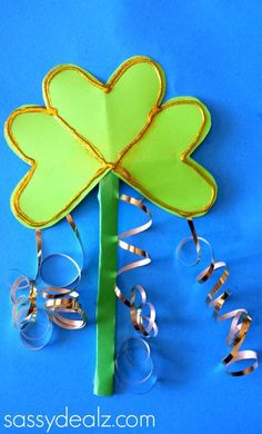 Shamrock Wand Craft for St. Patrick's Day -