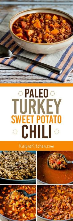 Paleo Turkey Sweet Potato Chili is amazing, and it's also dairy-free and…