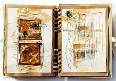 """""""After the sleepless night"""" journal page by Finnabair"""