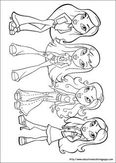 91 Bratz Ideas Coloring Pages Coloring Books Coloring Pages For Kids
