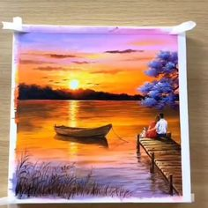 Canvas Painting Tutorials, Diy Canvas Art, Acrylic Painting Canvas, Painting Videos, Canvas Canvas, Pictures For Painting, Acrylic Art, Painting Techniques, Canvas Painting Designs