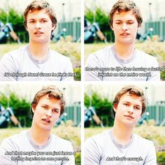 Ansel Elgort on his character Augustus