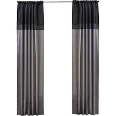 An elegant addition to your master suite or guest room, this lovely curtain panel showcases a color-block design and geometric details.