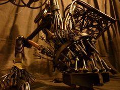 Nails the tragic Dragon Dragon Nails, Metal Art Sculpture, Scrap Metal Art, Industrial Metal, Making Out, Original Artwork, Sculptures, Tattoos, Tatuajes