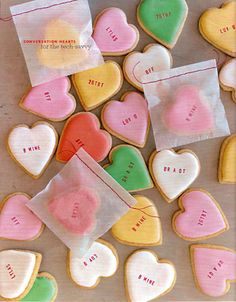 Conversation hearts cookies