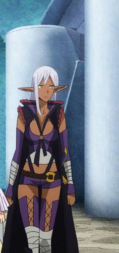 Yao Ro Dushi from Gate: Jieitai Kanochi nite, Kaku Tatakaeri Black Anime Characters, Story Characters, Character Inspiration, Character Design, Anime Elf, Female Elf, Dark Elf, Medieval Armor, Cg Art
