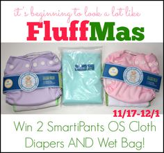 Blog post at So Easy Being Green : It's beginning to look a lot like... FluffMas!  The Holidays are coming and we're celebrating cloth diaper style.  Welcome to the FluffMa[..]