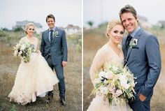 Shipwrecked Winter Beach Wedding: Cortnie + Donny – Part 1 STUNNING bouquet and textures, great dress and suit as well!