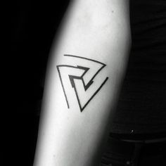 Minimal Triangles Mens Forearm Tattoos