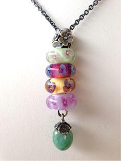 """Spring Flowers"" Emerald Fantasy Necklace Design by Tartooful"