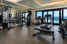 Mansion Homes, Mansion Kitchen, Beach Mansion, Home Gym Design, Dream Home Design, House Design, Dream Home Gym, Gym Room At Home, Gym Interior