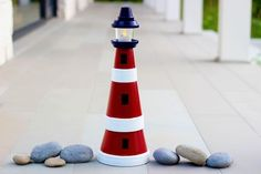 Flowerpot Light House | 33 Nautical DIYs That Will Transport You To The Beach