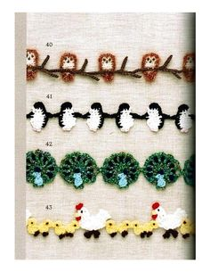 Free crochet patterns with diagrams