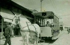 İZMİR-1930 sonrası Atlı Tramvay.... İskele karşısı Zübeyde Hanım cad.