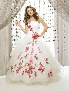 vestidos de novia con rojo - Buscar con Google