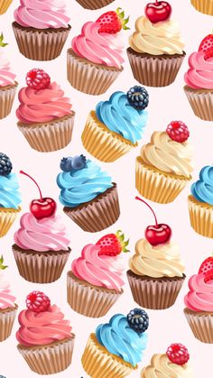 New cupcakes wallpaper iphone happy birthday 44 ideas Happy Birthday Quotes, Happy Birthday Images, Happy Birthday Wishes, Birthday Fun, Birthday Greetings, Birthday Cupcakes, Cupcakes Wallpaper, Berry Cupcakes, Wallpaper Fofos
