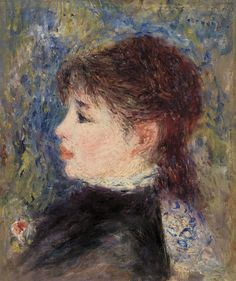 "the-barnes-art-collection: ""Young Woman with Rose (Jeune fille à la rose) by Pierre-Auguste Renoir, The Barnes Foundation Barnes Foundation (Philadelphia), Collection Gallery, Room East Wall Medium: Oil on canvas"" Pierre Auguste Renoir, August Renoir, Barnes Foundation, Renoir Paintings, Salon Art, Modern Artwork, Rose Art, Claude Monet, Famous Artists"