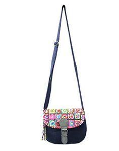 Anekaant Women's Sling Bag (Blue 10) (ADB3375M)