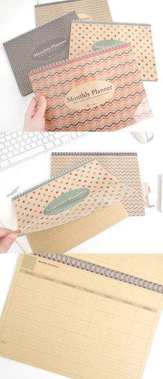The Kraft Monthly Planner is a planner with cute patterned cover and impressive kraft paper with vintage look. This planner is good to manage your monthly schedule on front paper while writing an additional notes on the back.